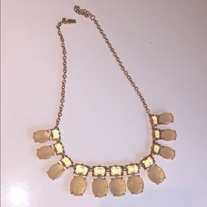 Kate spade necklace, pink and rose gold accents